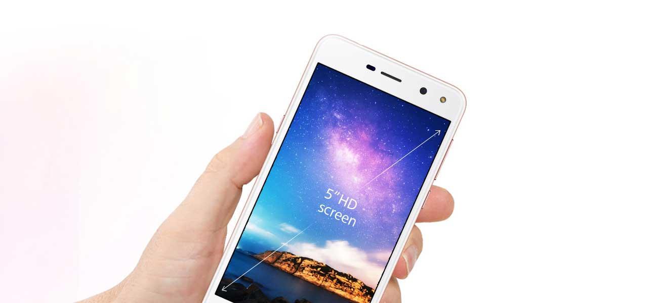 złoty Huawei Y6 2017 ekran 5'' HD metalowa ramka