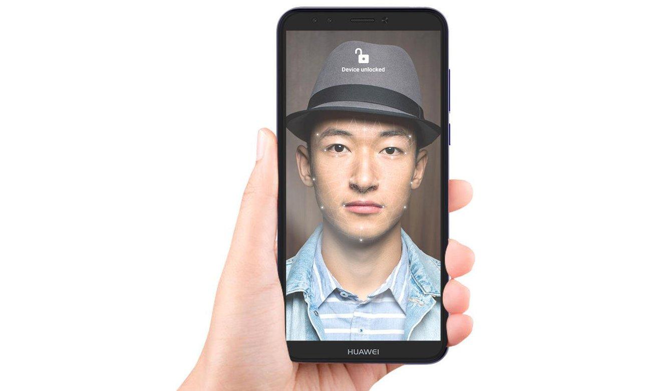HUAWEI Y6 2018 selfie face unlock