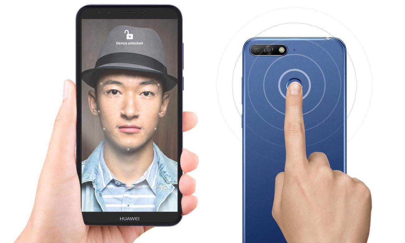 HUAWEI Y6 Prime 2018 czytnik linii papilarnych face unlock