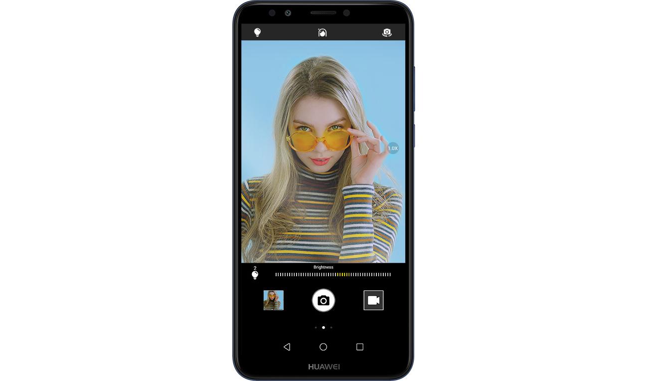 HUAWEI Y7 Prime 2018 selfie 8 mpix efekty AR
