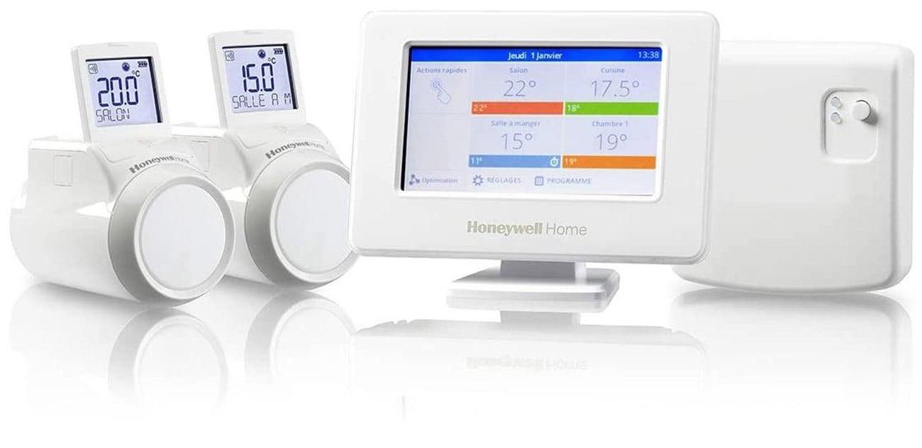 Sterownik ogrzewania Honeywell Evohome + Przekaźnik + 2 Regulatory