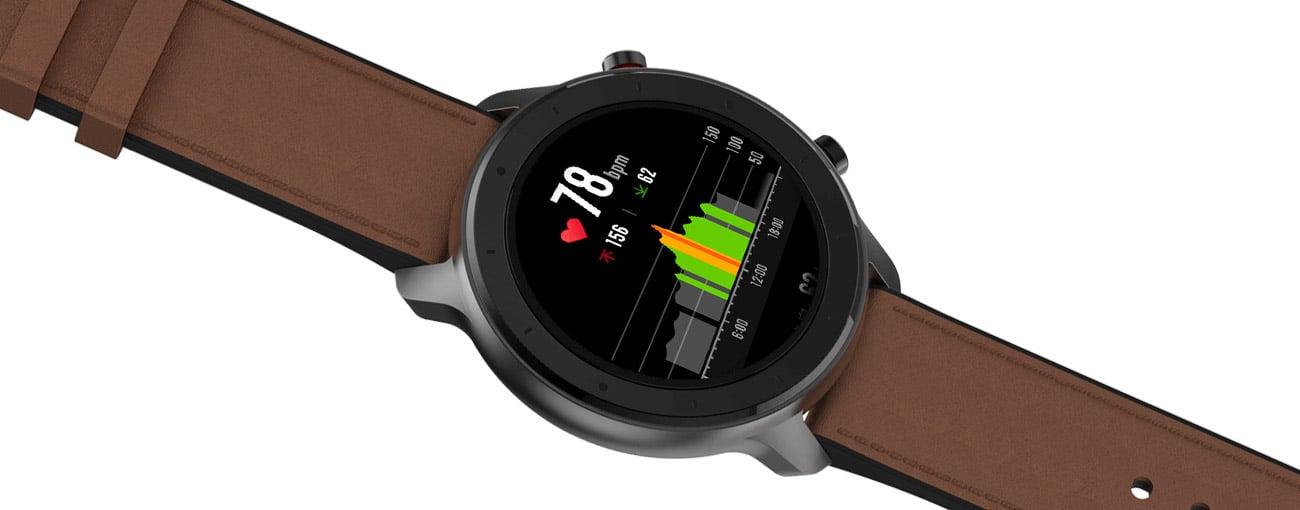 Huami Amazfit GTR 47mm zaawansowane czujniki aktywnosci monitor snu pulsometr