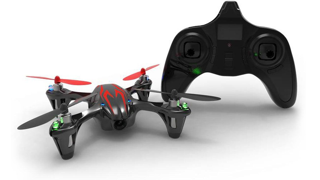 Dron Hubsan X4 H107C czarno-czerwony