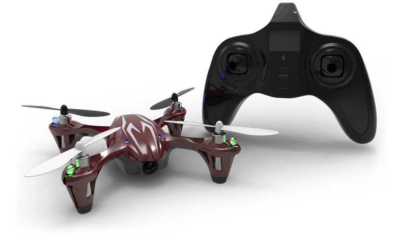 Dron Hubsan X4 H107C czerwono-szary