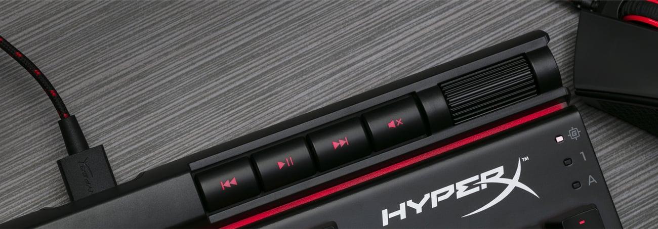 HyperX Alloy Elite multimedialne przyciski