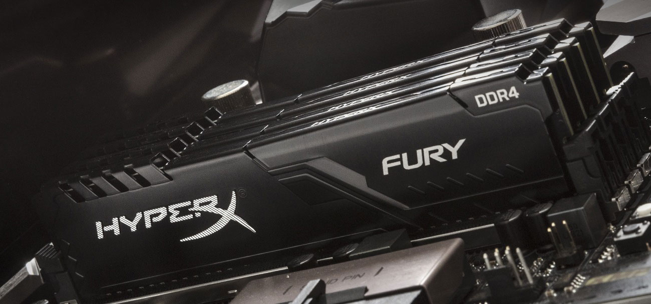 HyperX Fury Black - Moduły w płycie głównej