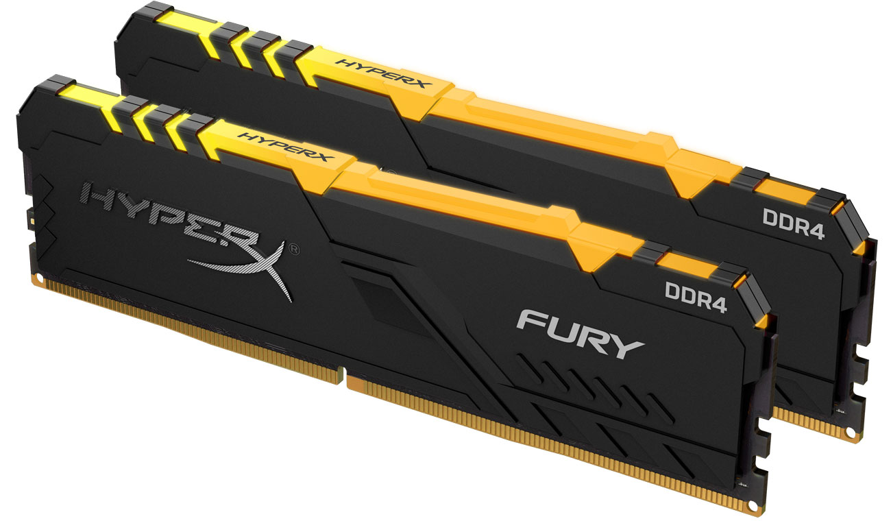Pamięć RAM DDR4 HyperX 16GB 3466MHz Fury RGB CL16 (2x8GB) HX434C16FB3AK2/16