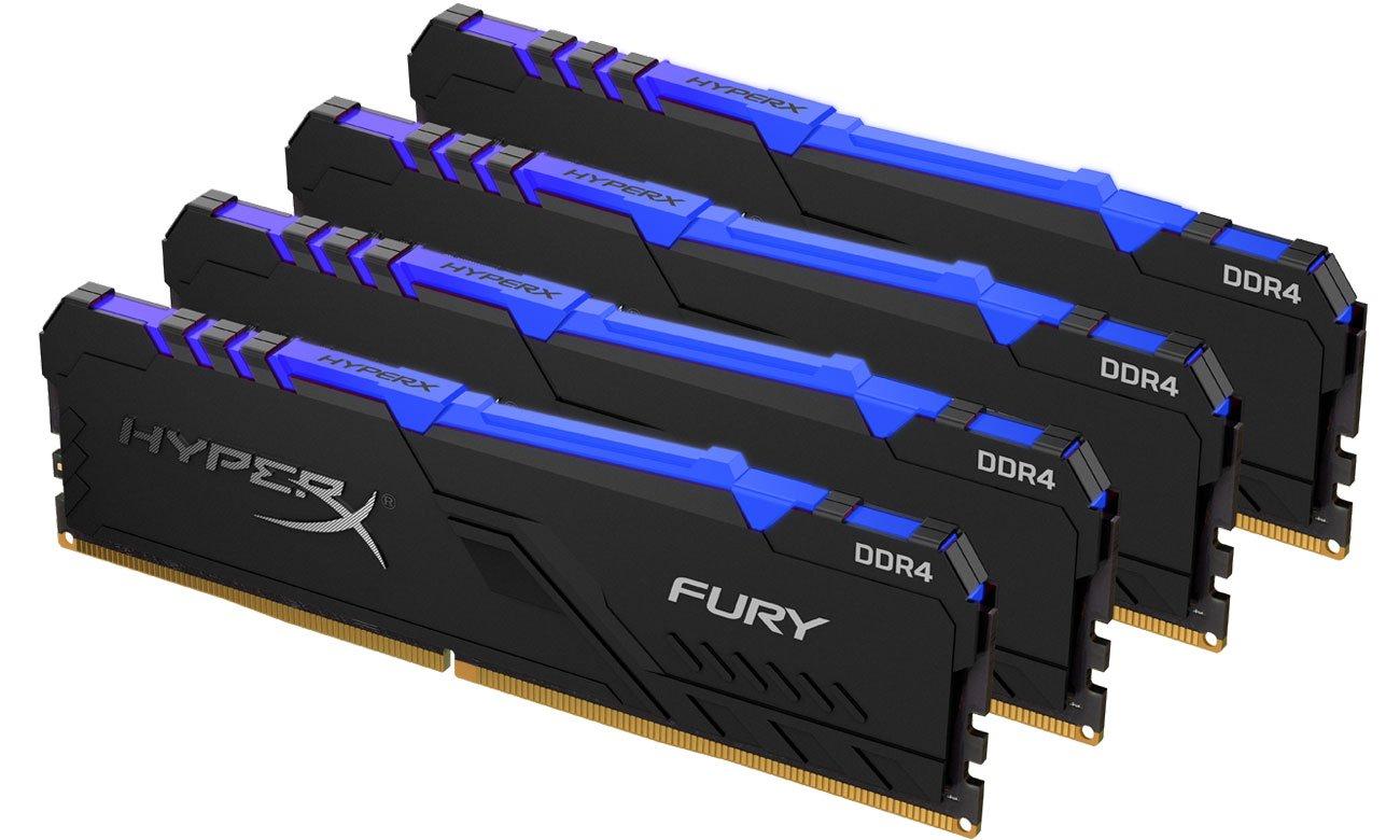 Pamięć RAM DDR4 HyperX 32GB 3200MHz Fury RGB CL16 (4x8GB) HX432C16FB3AK4/32