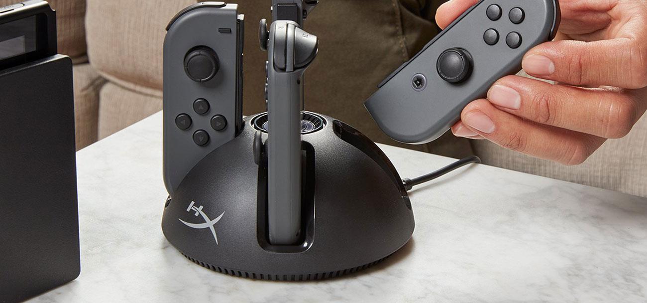 Ładowarka do kontrolerów Switch ChargePlay Quad HX-CPQD-U