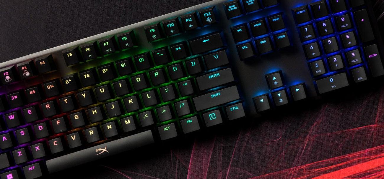 HyperX Alloy FPS RGB kompaktowy rozmiar