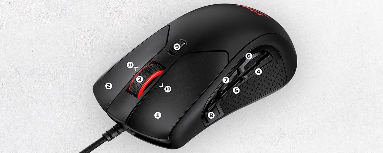 Mysz dla graczy HyperX Pulsefire Raid
