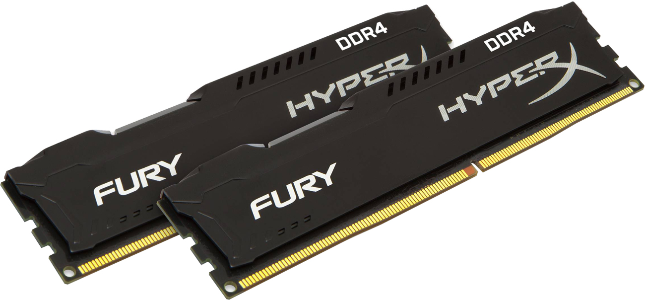 Leistung des Arbeitsspeichers RAM HyperX 16GB 2400MHz Fury Schwarz CL15 (2x8GB)