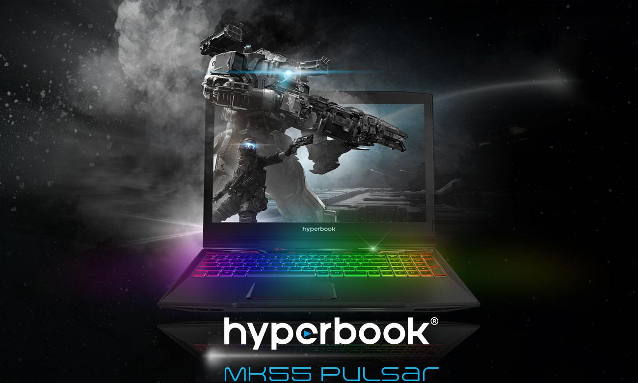 Hyperbook MK55 PULSAR Stworzony z myślą o profesjonalnym gamingu