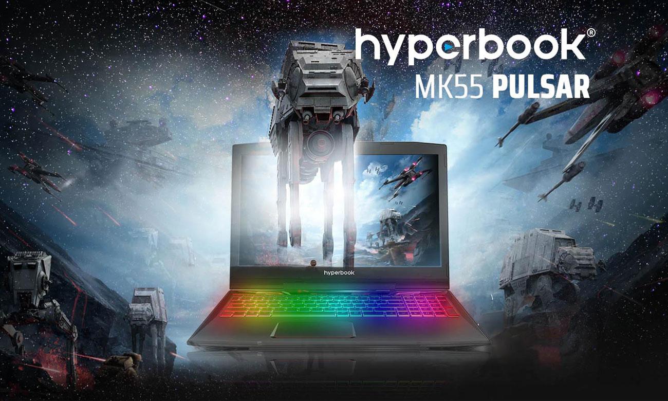 Hyperbook MK55 PULSAR Wyświetlanie pełnej palety barw oraz najdrobniejszych detali, IPS