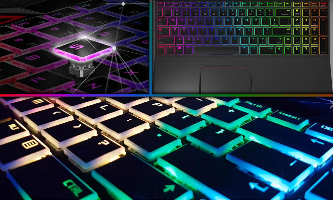 Hyperbook MK55 PULSAR Zaawansowane podświetlenie mechanicznej klawiatury LED RGB