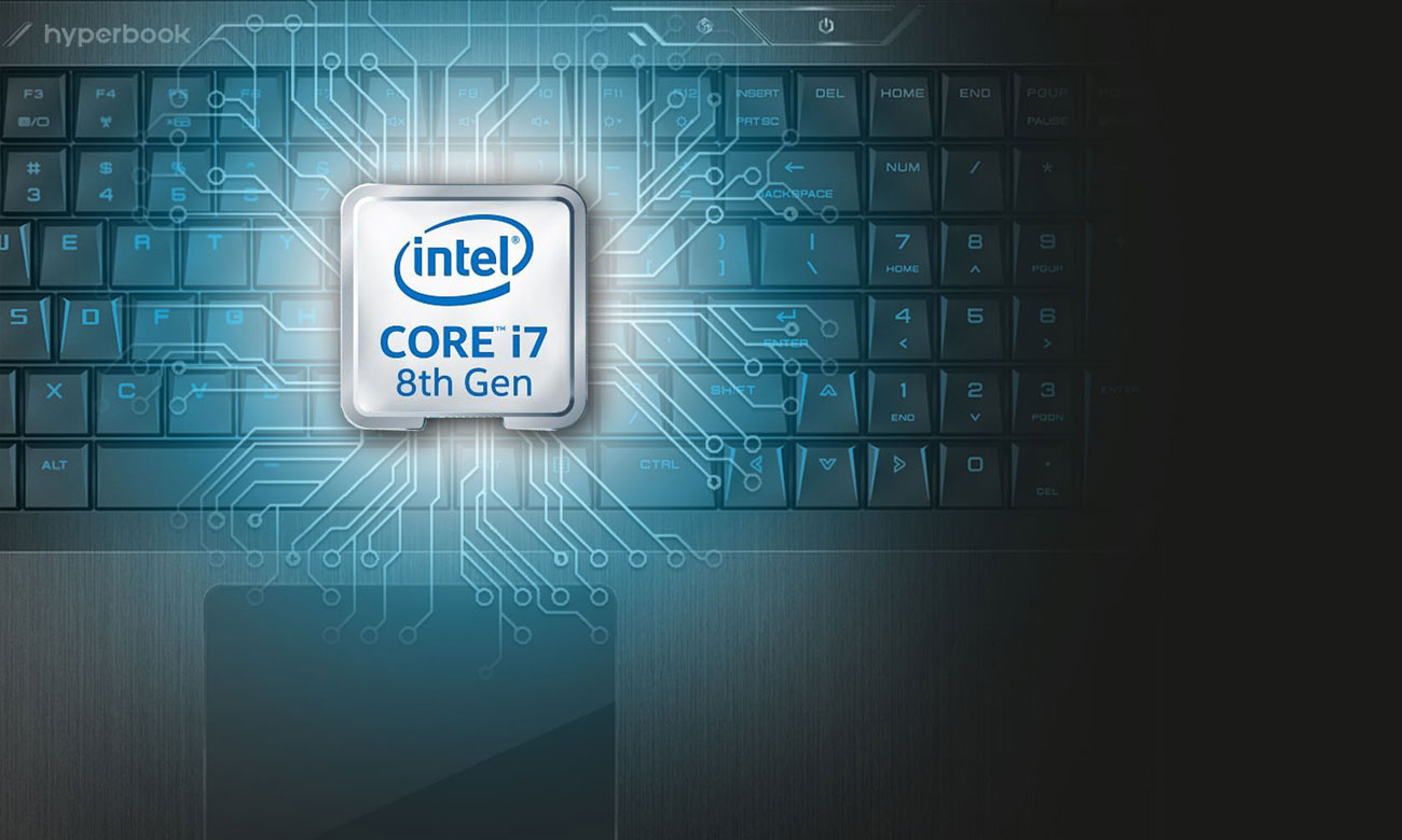 Hyperbook Pulsar Z15 Procesor Intel Core i7 ósmej generacji