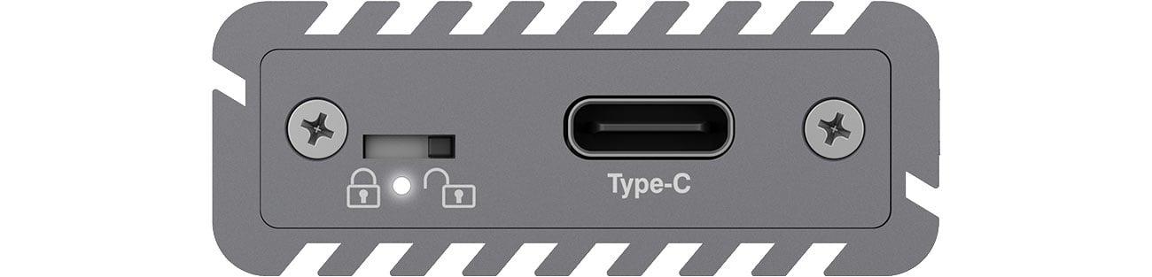 ICY BOX IB-1817M-C31 Przełącznik bezpieczeństwa, interfejs USB-C