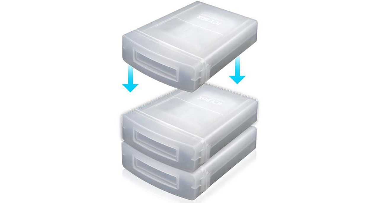 ICY BOX IB-AC602a Etui do dysku 3,5