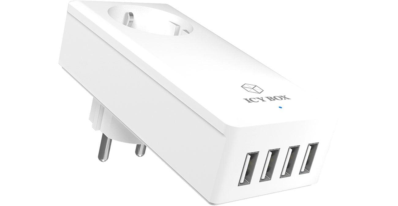 ICY BOX IB-CH404 4 x USB