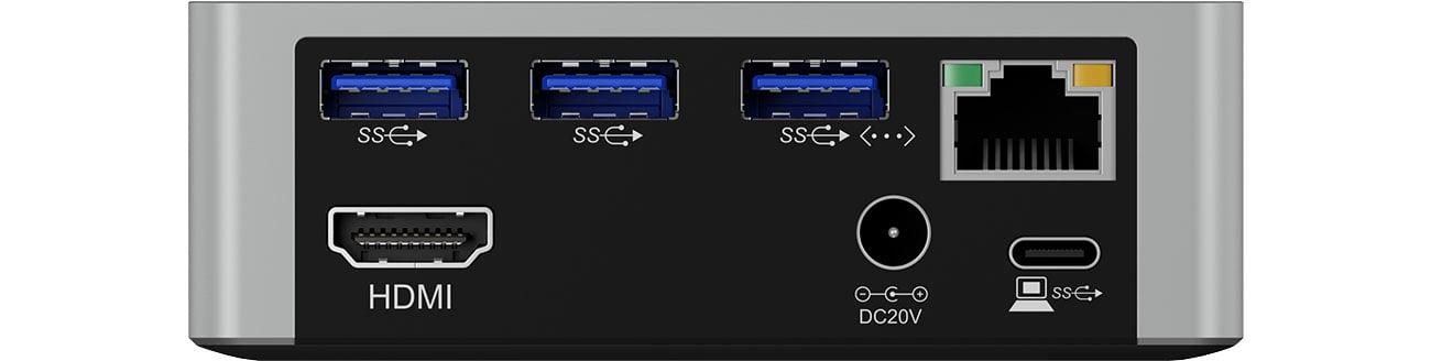 ICY BOX IB-DK2301-C Złącza