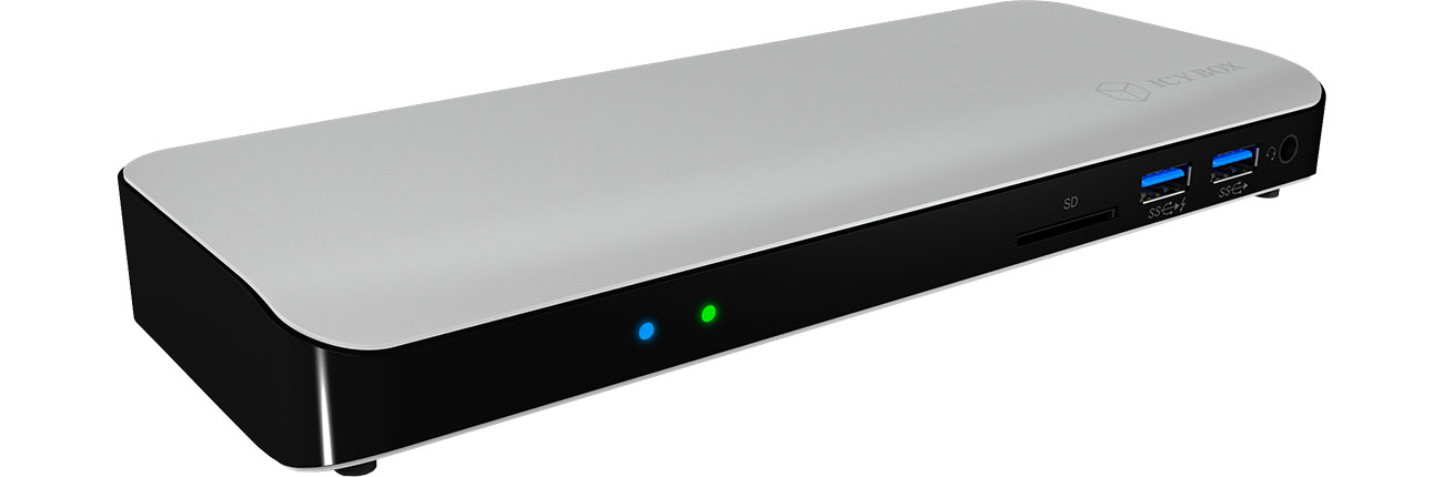 ICY BOX Stacja dokująca 3xUSB 3.0, HDMI, RJ-45, Czytnik SD IB-DK2501-TB3