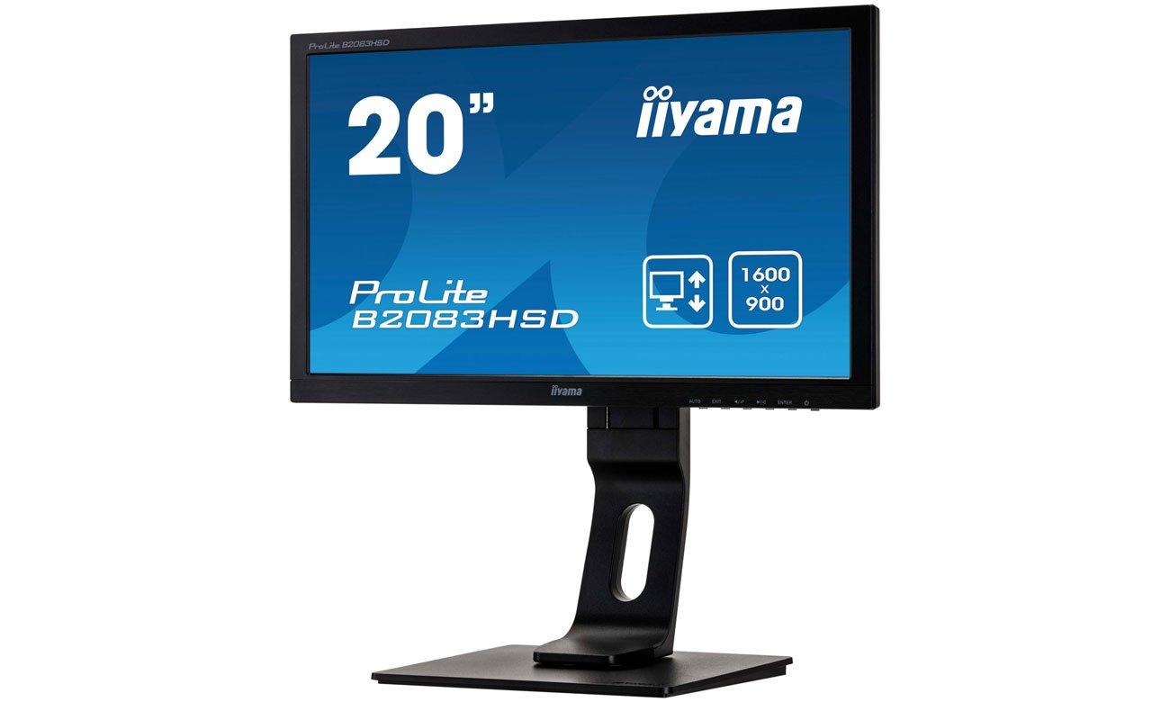 iiyama B2083HSD czarny technologia flicker free