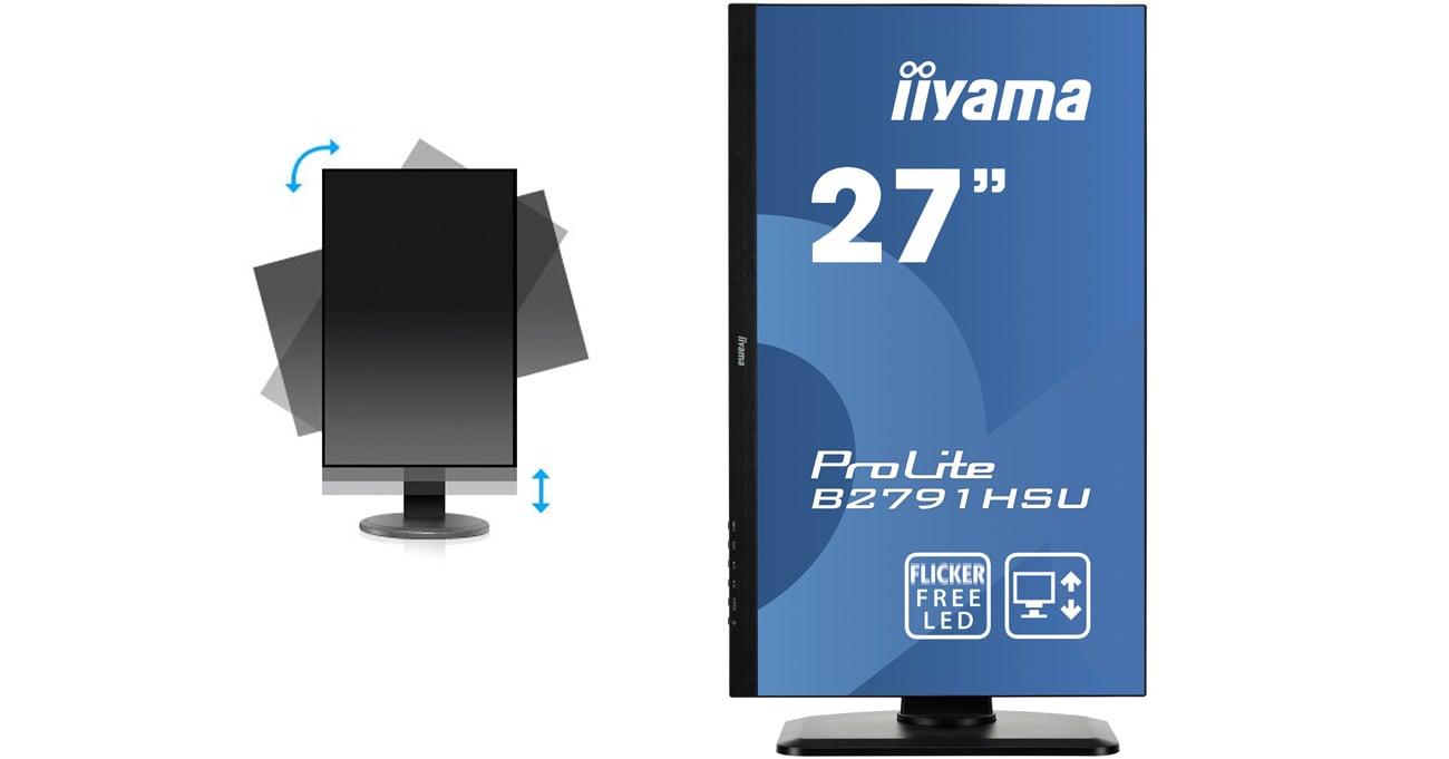 iiyama B2791HSU-B1 HAS+PIVOT
