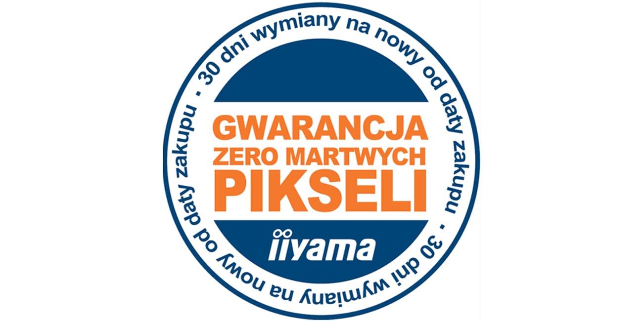"""Gwarancja Iiiyama """"Zero martwych pikseli"""""""
