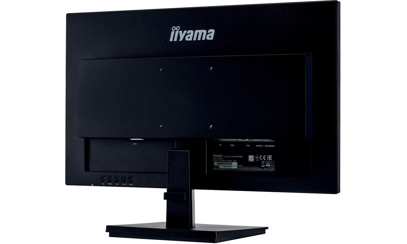 iiyama X2474HS - Widok z tyłu