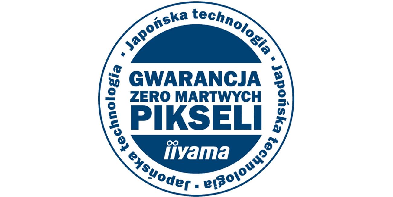 "Gwarancja Iiiyama ""Zero martwych pikseli"" iiyama XB2283HSU"
