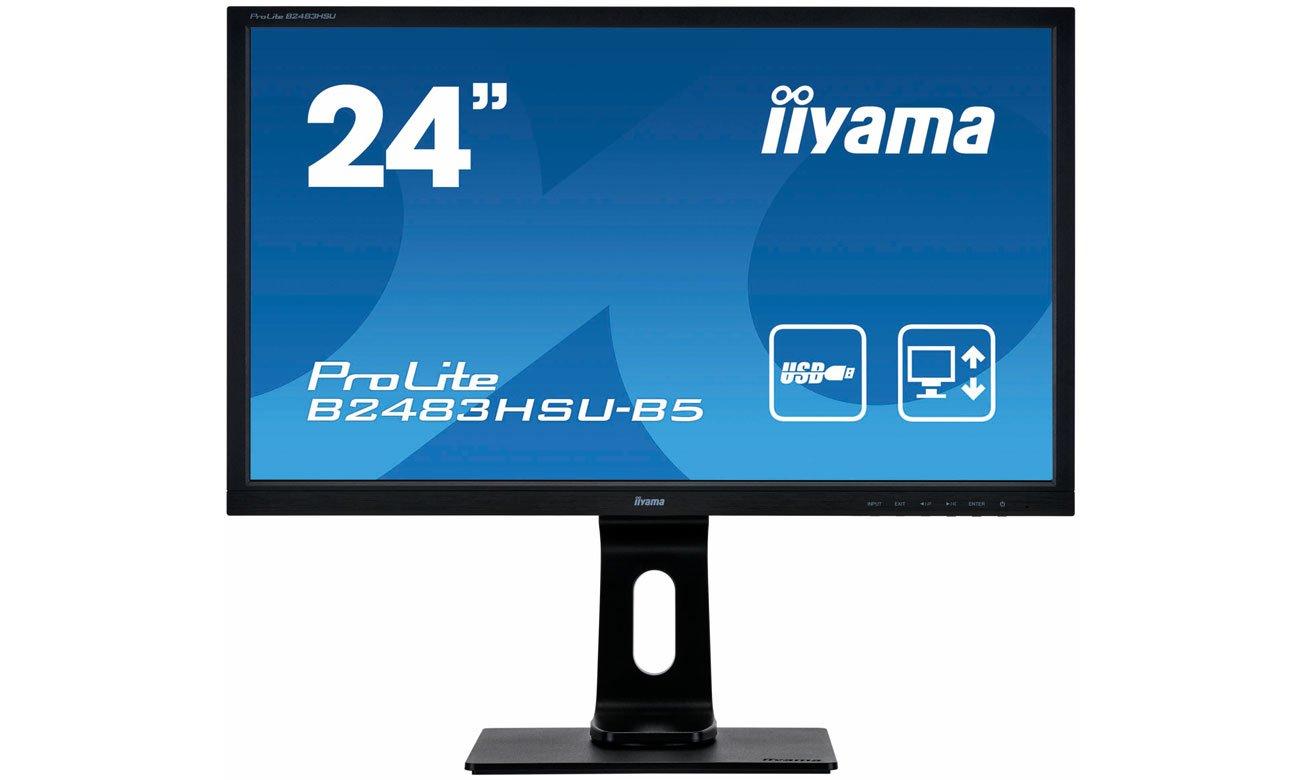 Monitor do domu i do biura iiyama B2483HSU-B5