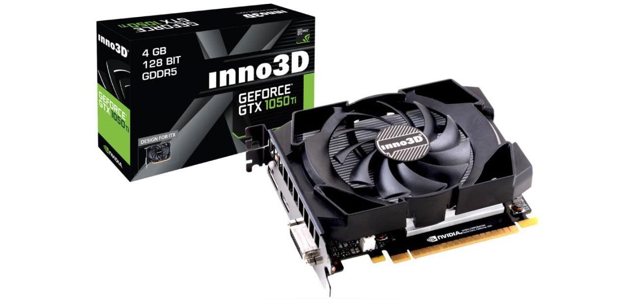 Die Grafikkarte mit NVIDIA Game Ready Technologien 768 CUDA Kernen und 4 GB GDDR5 VRAM INNO3D GeForce GTX 1050 Ti COMPACT N105T 1SDV M5CM