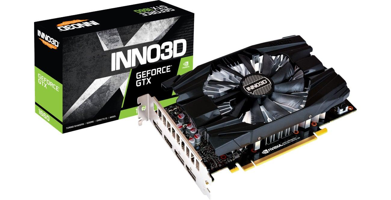 Karta graficzna NVIDIA Inno3D GeForce GTX 1660 Compact X1 6GB GDDR5 N16601-06D5-1510VA29