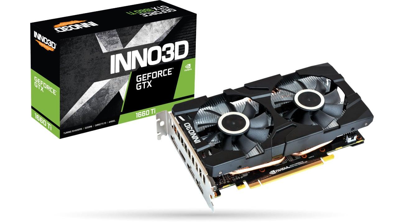 Karta graficzna NVIDIA Inno3D GeForce GTX 1660 Ti Twin X2 6GB GDDR6 N166T2-06D6-1710VA15