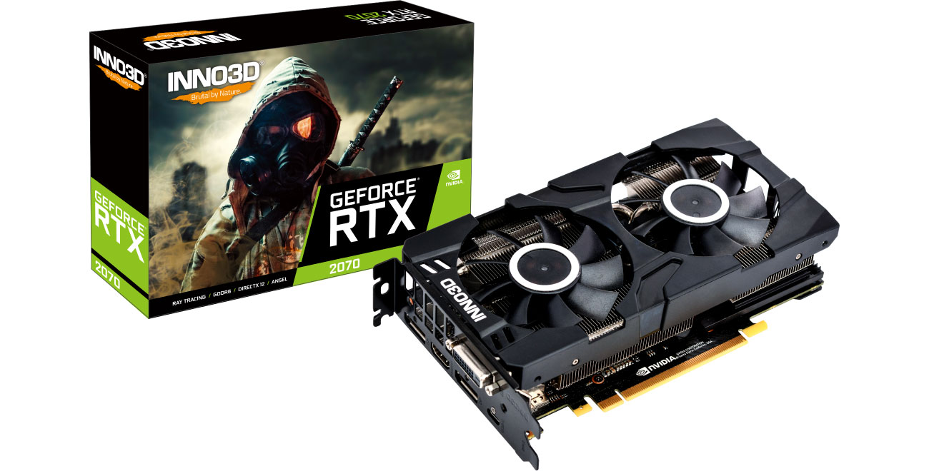 Karta graficzna Inno3D GeForce RTX 2070 TWIN X2 8GB GDDR6 N20702-08D6-1160VA22