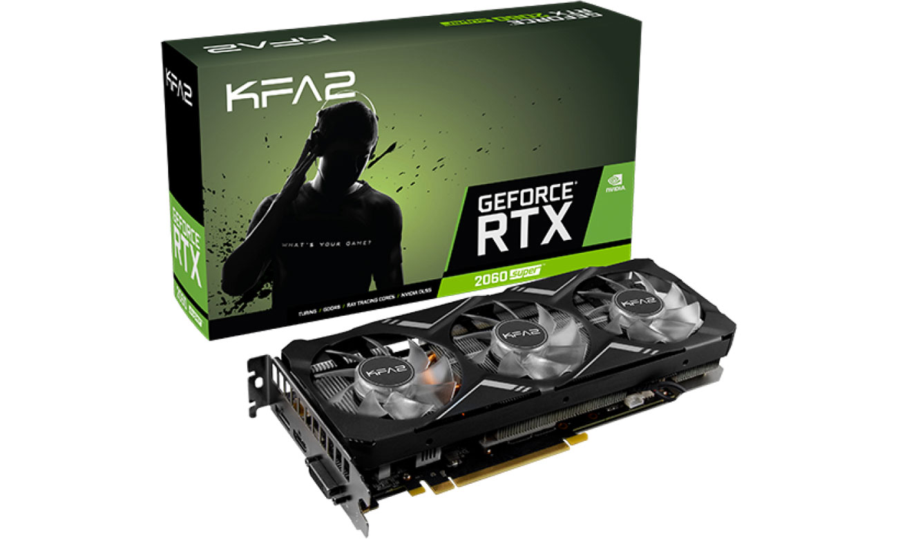 Karta graficzna NVIDIA KFA2 GeForce RTX 2060 SUPER Gamer 1-Click OC 8GB GDDR6 26ISL6HP76GK