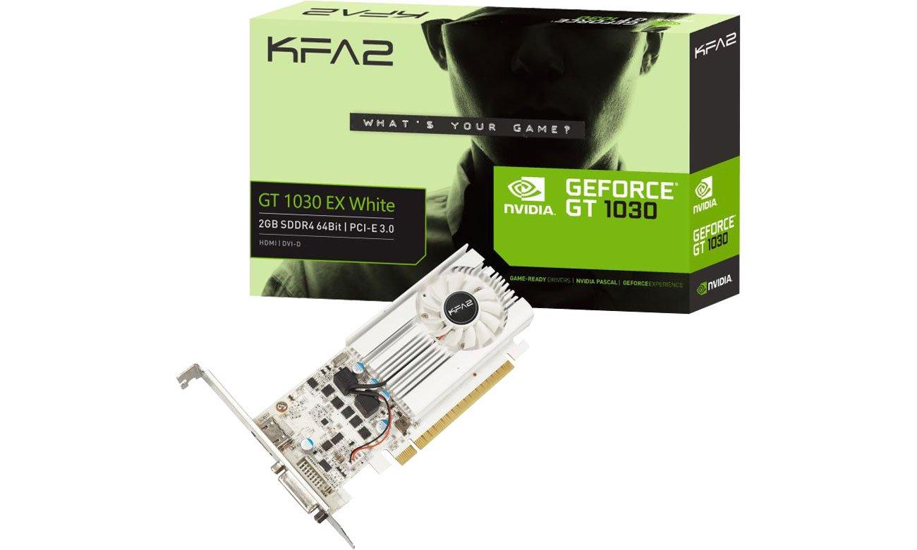 Karta graficzna NVIDIA KFA2 GeForce GT 1030 EX OC White 2GB GDDR5