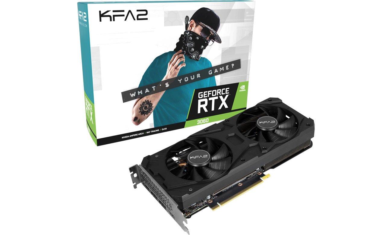 Karta graficzna NVIDIA KFA2 GeForce RTX 3060 1-Click OC 12 GB GDDR6 36NOL7MD1VOK
