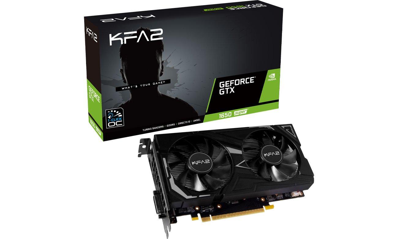 Karta graficzna NVIDIA KFA2 GeForce GTX 1650 SUPER EX 1-Click OC 4GB GDDR6 65SQL8DS61EK
