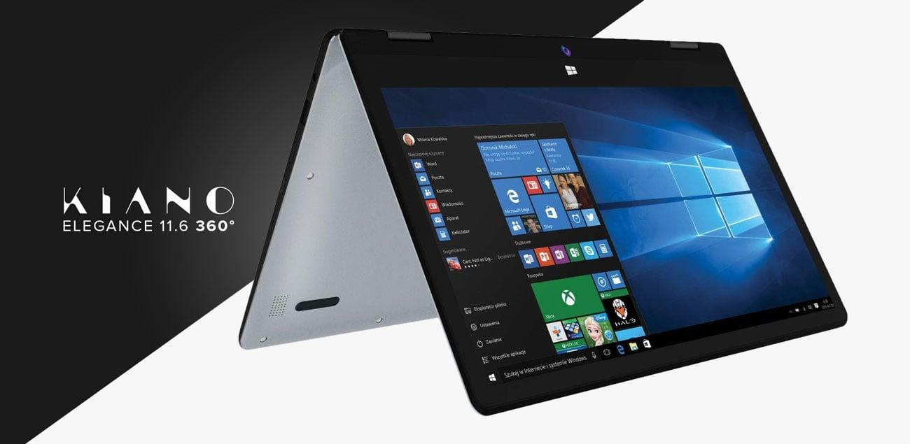 Kiano Elegance 11.6 360 smukła obudowa tablet laptop