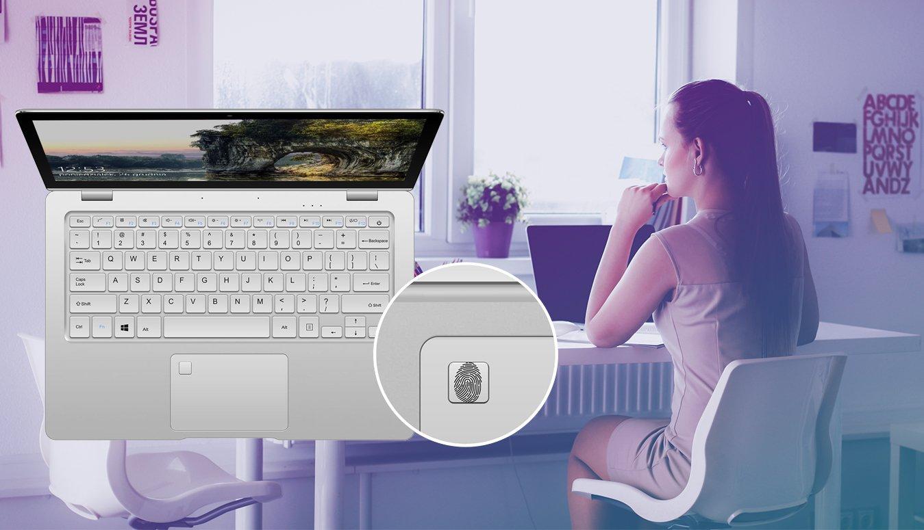 Kiano Elegance 13.3 360° Minecraft Edition windows hello czytnik linii papilarnych
