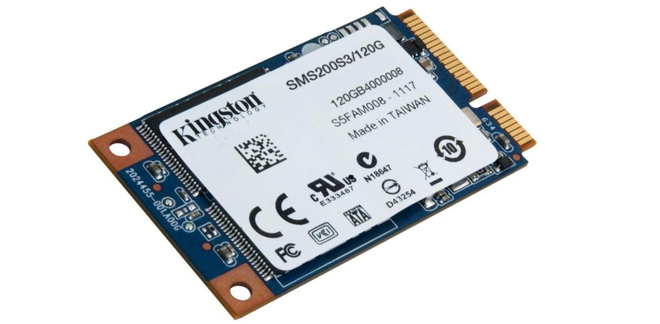 Dysk SSD Kingston 120GB mSATA SSD SMS200S3 wydajnosc i niezawodnosc
