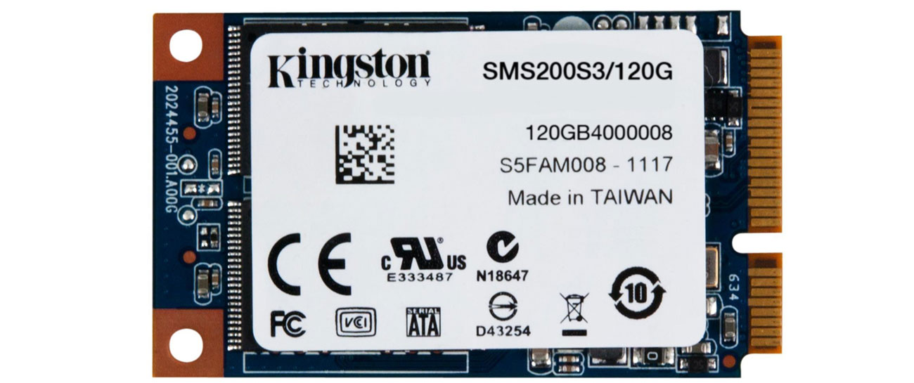 Dysk SSD Kingston 120GB mSATA SSD SMS200S3 latwy w montazu nand flash intel srt