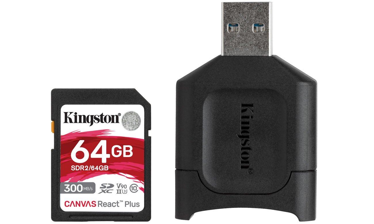 Karta SD Kingston Canvas React Plus 64GB
