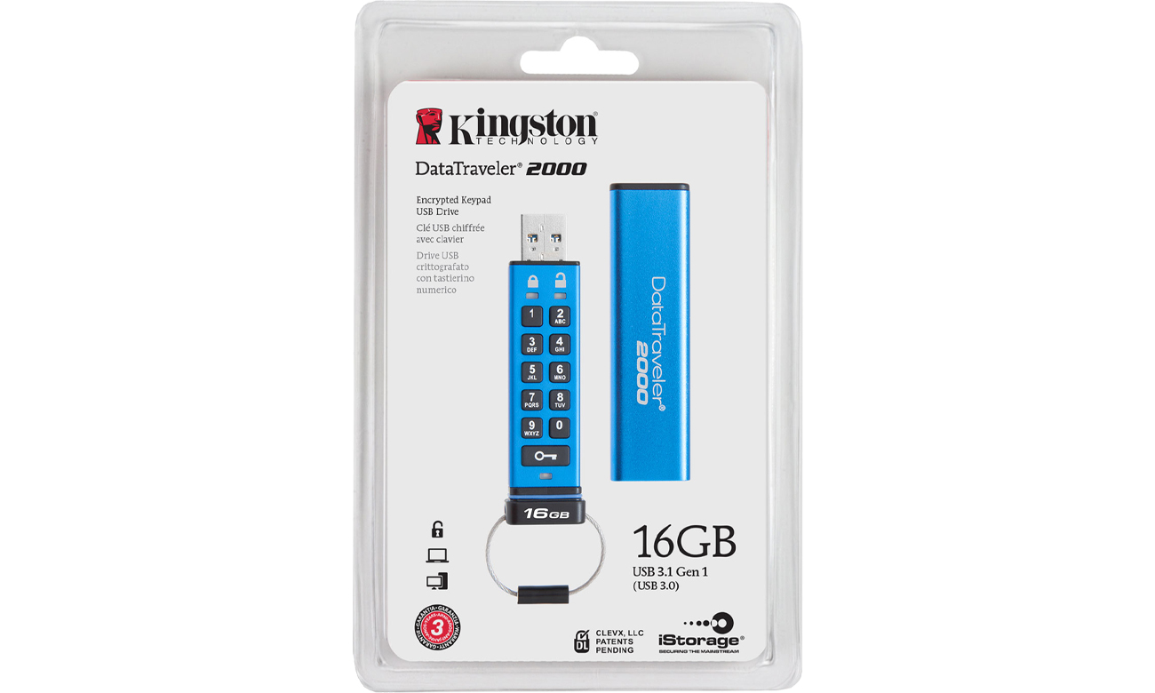 PenDrive USB Kingston 16GB DataTraveler