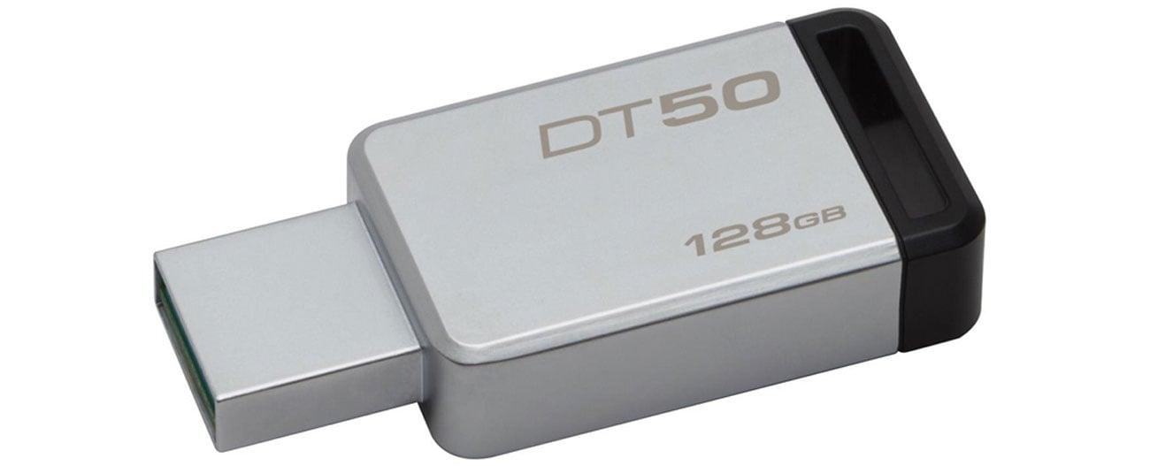 Kingston 128GB DataTraveler 50 30MBs szybki niezawodny komapktowy kompatybilny
