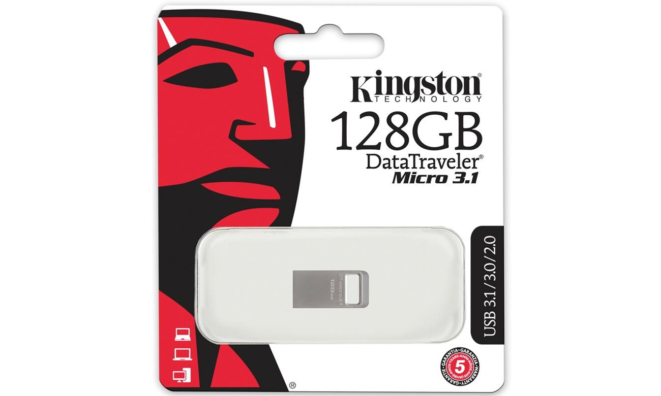 PenDrive USB Kingston 128GB DataTraveler Micro
