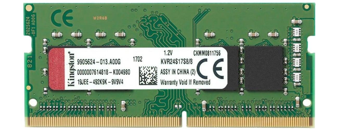 Pamięć RAM SODIMM DDR4 Kingston 8GB 2400MHz CL17 KVR24S17S8/8