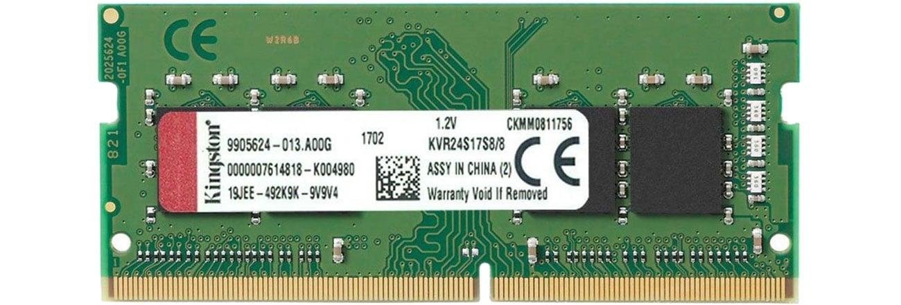 Pamięć RAM SODIMM DDR4 Kingston 8GB (1x8GB) 2666MHz CL19 KVR26S19S6/8