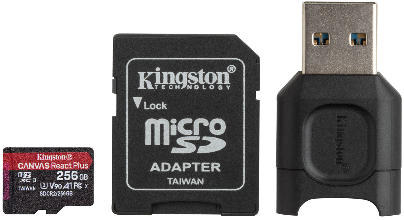 Karta pamięci microSD Kingston Canvas React Plus 256GB